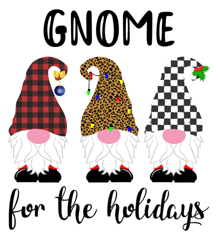 Gnome for the Holidays Sublimation Digital Design