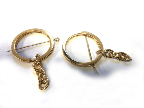 Split Ring and Chain with Headpin Gold finish - CraftChameleon