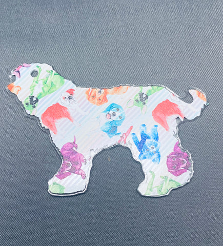 Goldendoodle Dog Acrylic Shape ~ Multiple Sizes