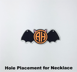 Set of 5 ~ Halloween Bat Acrylic Shape for Necklace or Bracelet - CraftChameleon