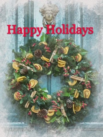 Happy Holidays Garden Flag Sized Sublimation Transfers