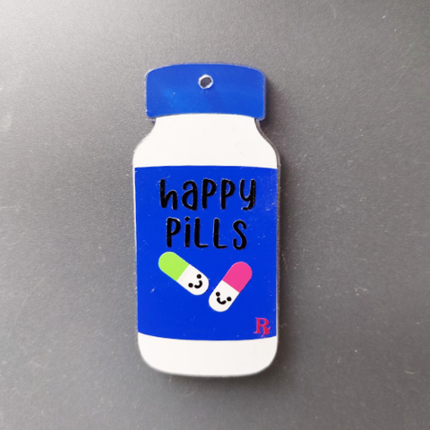 Medicine Bottle Acrylic Blank Shape