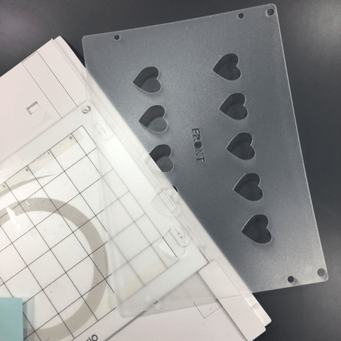 "1"" Heart Plastic Template for Etching"