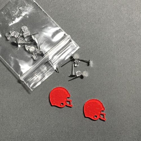 Football Helmet DIY Acrylic Earrings - CraftChameleon