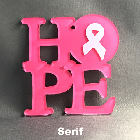 "Acrylic HOPE WordArt Blank ~ 1"" Necklace Bracelet Charm - CraftChameleon"