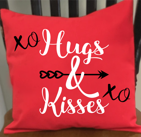 Hugs and Kisses Wordart Digital Design