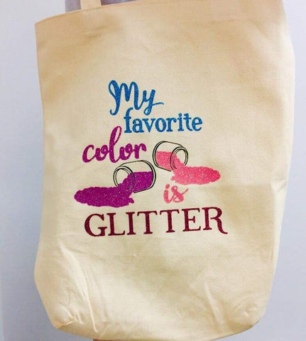 My Favorite Color is Glitter Wordart Digital Design