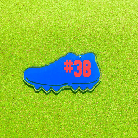 Cleat Soccer Baseball Football Shoe Acrylic Shape - CraftChameleon  - 1