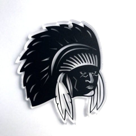 Warrior Indian Chief Acrylic Shape - CraftChameleon