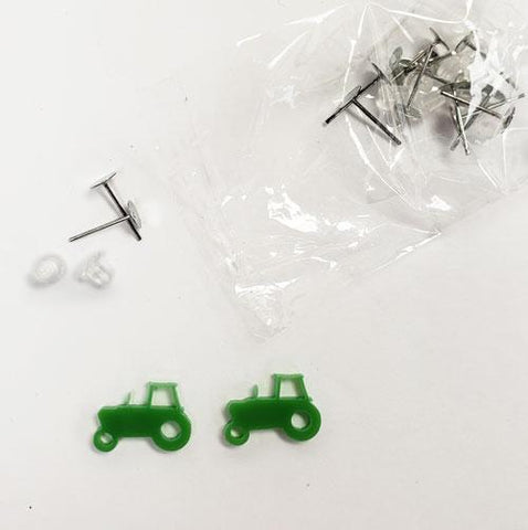 Tractor DIY Acrylic Blank Earrings
