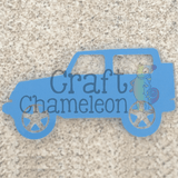 Jeep Acrylic Shape - CraftChameleon  - 1
