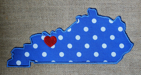 Kentucky Embroidery Applique Embroidery Design Only