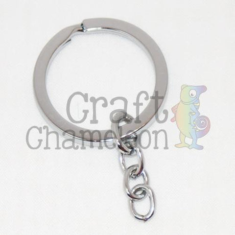 Set of 25 ~ Split Key Ring and Chain - CraftChameleon