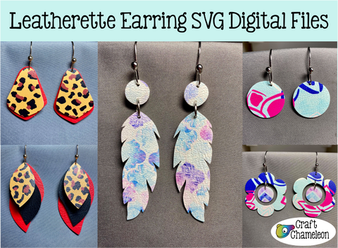 Leatherette Earring Digital Design