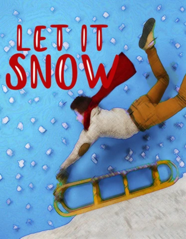 Let it Snow Garden Flag Sized Sublimation Transfers
