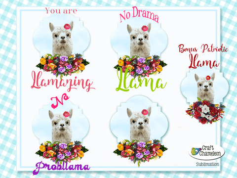 Llama Sublimation Digital Design