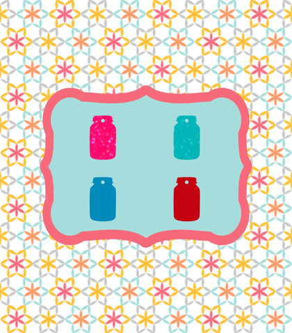 "Set of 10 ~ Mason Jar Acrylic Charm 7/8"" Acrylic Shape for Bracelet Necklace Earrings - CraftChameleon  - 1"