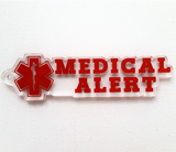 Medical Alert Word Art Shaped Acrylic