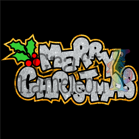 Merry Christmas Wordart Digital Design - CraftChameleon