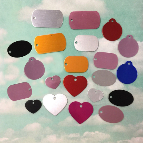 CSD Blank Metal Shapes ~ Multiple Shapes ~ Multiple Colors