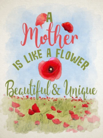 Mother is Like a Flower Garden Flag Sized Sublimation Transfers