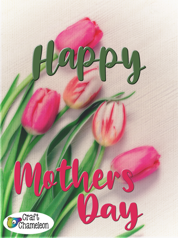 Mother's Day Tulips Sublimation Design Only