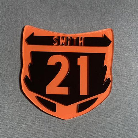 Motocross Number Plate Acrylic Blank Shape Key Chain Size - CraftChameleon