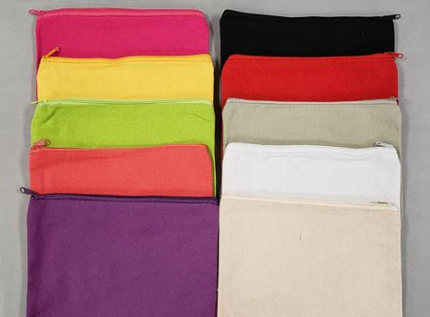 Cotton Canvas Zipper Bags
