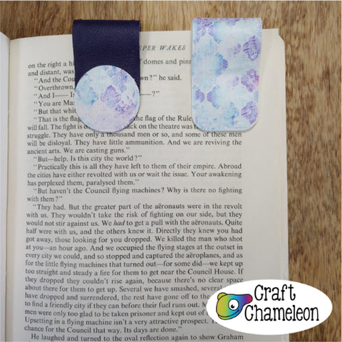 No Sew Leatherette Bookmark Design Only