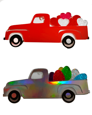 Old Pick Up Truck Side View Acrylic Shape ~ Multiple Sizes - CraftChameleon