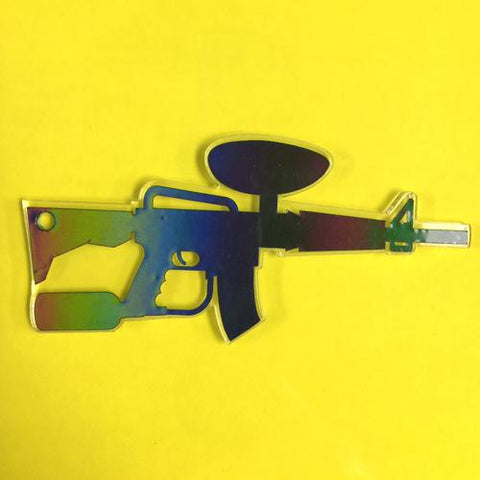 Paintball Gun Acrylic Blank Shape
