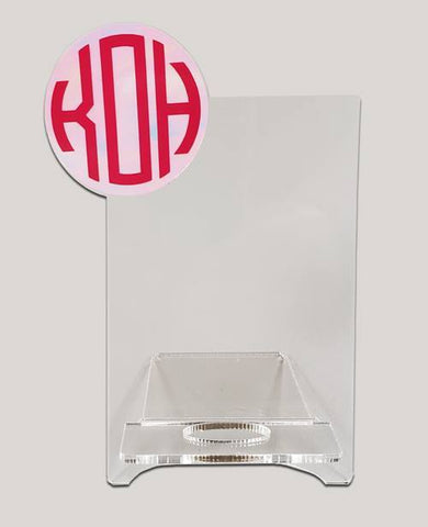 Acrylic Blank Phone Stand with Monogram Space ~ Set of 3