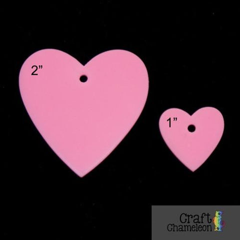 "Set of 5 ~ Acrylic Heart  1"" - CraftChameleon  - 1"