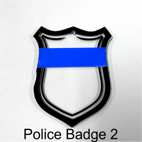 Blank Acrylic Police Badge ~ Multiple Styles