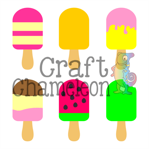 Popsicle Digital Design - CraftChameleon