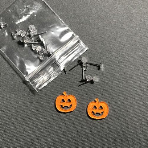 Halloween Pumpkin DIY Acrylic Earrings - CraftChameleon