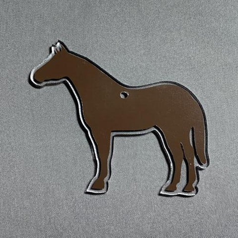 Quarter Horse Shaped Acrylic Blank ~ Multiple Sizes - CraftChameleon