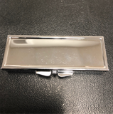 Silver Tone Rectangle Pill Box