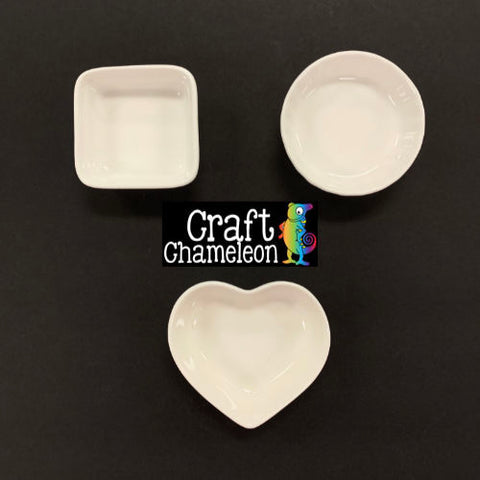 Blank Ceramic Ring Dishes ~ Set of 3