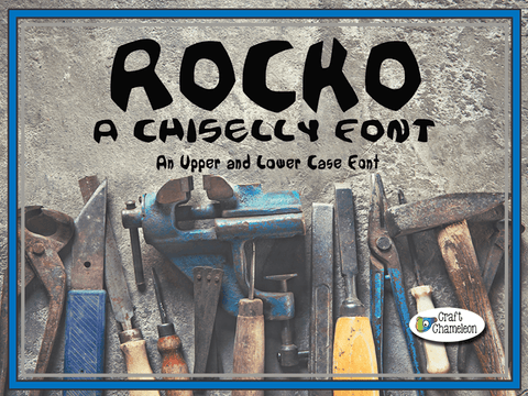 Rocko ~ A Chiselly Font