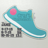 Running Shoe Acrylic Shape - CraftChameleon  - 1
