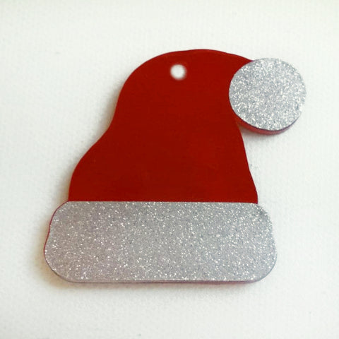 Santa Hat Acrylic Blank Shape ~ Multiple Sizes