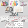 Set of 12 ~ Satin Headbands Standard Size - CraftChameleon  - 5