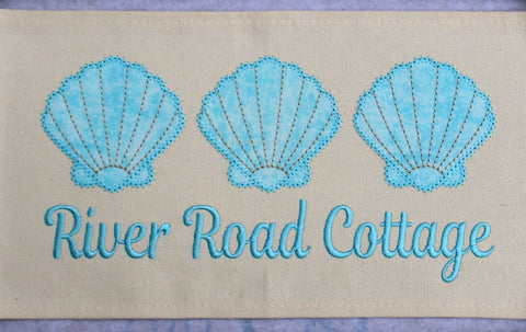 Embroidery Seashell Trio Design Only