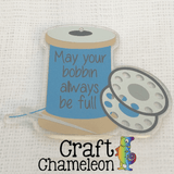 Acrylic Shaped Sewing Thread, Bobbin, Needle - CraftChameleon  - 1