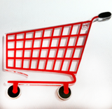 Shopping Cart Acrylic Blank Shape