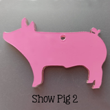 Acrylic Shaped Show Animals ~ Steer Pig Sheep Goat ~ Multiple Sizes