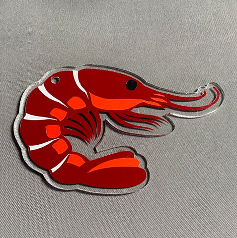 Shrimp Acrylic Blank Shape ~ Multiple Sizes