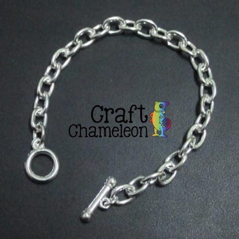 "Sets of 5 and 25 ~ Silver Plate Chain Link Charm Bracelet 6"" and 7.5"" - CraftChameleon"