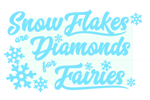 Snowflakes are Diamonds Design Only - CraftChameleon